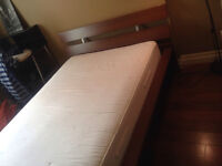 Bed Frame and Mattress Malm