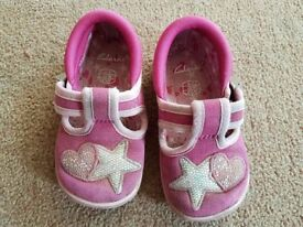 Clarks 'Doodle' Shoes, size 4F - £3.00