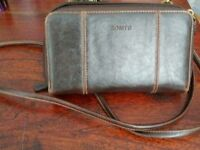 Rosetti brown leather shoulder bag/purse/phone holder