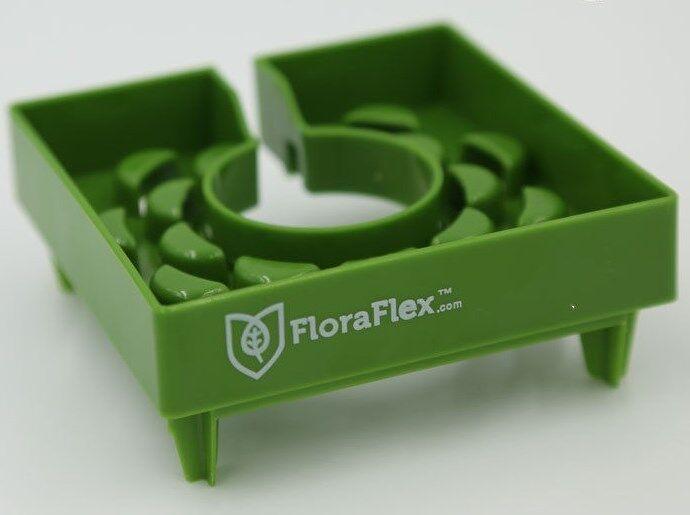 "FloraFlex™ 4/"" FloraCap™ fits 4/"" RockWool Cubes Fight Algae SAVE $$ W// BAY HYDRO"