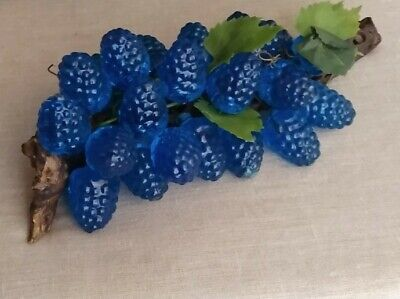 Mid Century Modern Lucite Berries Cluster On Driftwood