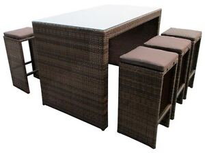 Rattan Outdoor Bar set 6 Stools setting perfect for Xmas Gift Dandenong South Greater Dandenong Preview