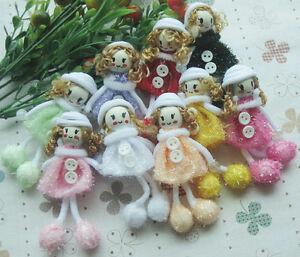 Cute-Pattern-dress-girl-small-doll-craft-appliques-DIY-handicraft-Lots-U-pick