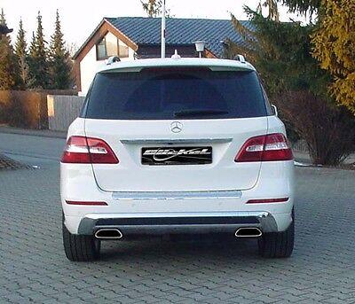 Mercedes Benz ML W166  Sport Endrohre mit Heckblende 2x70x157 Sportauspuff V5