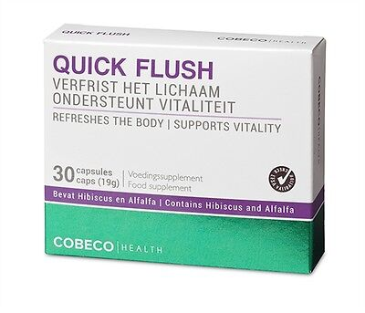Quick Flush (Cobeco Quick Flush Natural Detox Supplement 30 Tablets For Deep Inner Cleansing)