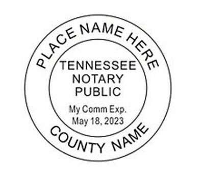 Notary Tennessee Custom Round Self-inking Notary Seal Rubber Stamp