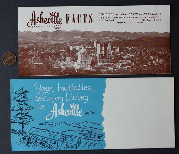 1960s Era Asheville North Carolina and Biltmore House TWO visitor brochure set!