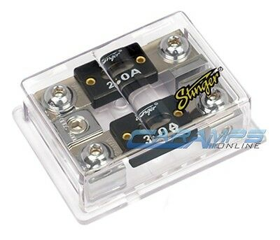 STINGER PRO SPD5212 2 POSITION DUAL ANL WAFER 0 GAUGE POWER FUSE HOLDER 0G