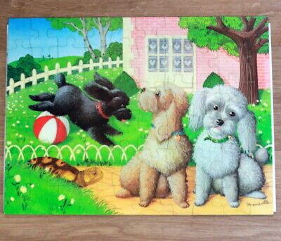 Puzzle les caniches 60 pièces, 1980