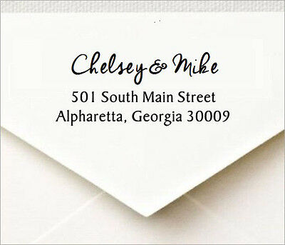 Custom Return Address Self Inking Rubber Stamp With Designer Font - Cosco P40