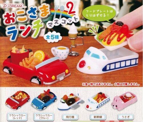 J Dream Toys Capsule Gashapon OKOSAMA Kids Lunch Part 2 Full Set 5 pcs