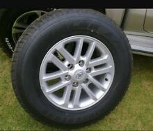 Toyota Hilux 2014 genuine 17 inch rims with 98% Bridgestone tread Strathfield Strathfield Area Preview
