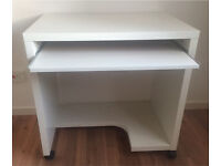 Ikea White Computer Desk As New