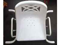 White Swivelling (full 360) Adult Bath Seat Chair Mobility Disability Aid on sale
