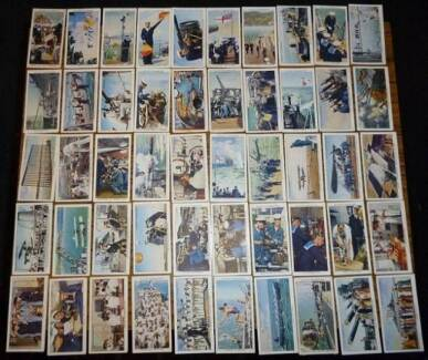 Life In The ROYAL NAVY Cigarette Cards-FULL Set x50-WD & HO WILLS Wembley Cambridge Area Preview