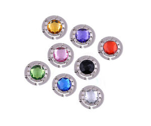 8 Colors Rhineston Crystal Folding Handbag Hanger Purse Bag Hook Holder Hanger