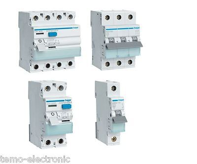 Hager FI-Schalter CDA/CFA ; Leitungsschutzschalter LS-Schalter MBN/MCN