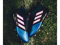 BRAND NEW BOXED - Adidas Ace 17+ Purecontrol FG TurboDragon -Full Black Blue Blaze -SIZE UK 10.5 9.5