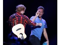 Ed Sheeran for Coldplay Tickets