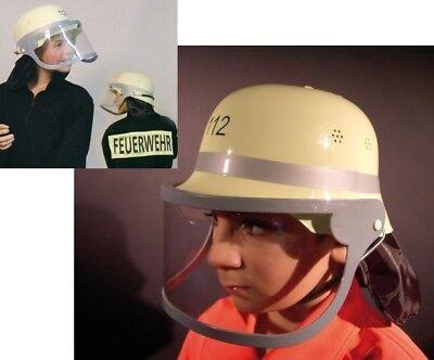 Feuerwehrhelm Kinder Helm Feuerwehr Schutzhelm Feuerwehrmann Fasching (Feuerwehrmann Kostüm)