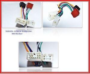 ISO-Din-Cable-adaptador-de-enchufe-AUTORRADIO-Mazo-TOYOTA-RAV-4-COROLLA-VERSO