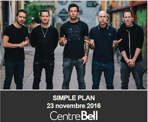 Simple Plan, 23/11/2016, Centre Bell, Section Rouge 112-FF