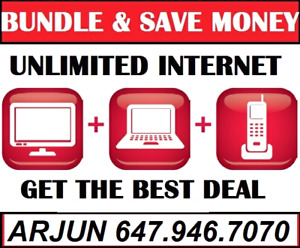 CABLE TV + UNLIMITED INTERNET $50, INTERNET IPTV CABLE