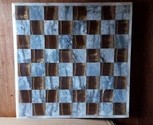 Mexican Marble Chess Set w/backgammon board