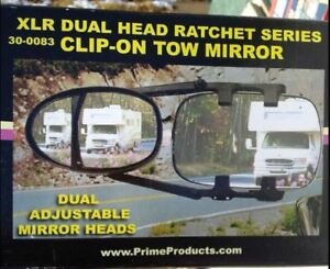 XLR Dual Head Ratchet Clip-On Tow Mirror