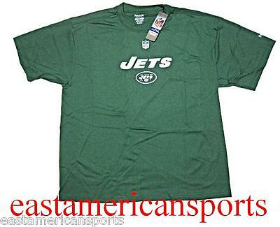 New York Jets NFL Reebok Sideline Hunter Green Short Sleeve T Shirt Mens Large L