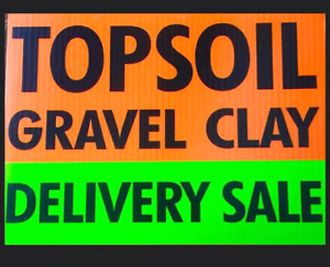 High quality screened topsoil,sand,rocks deliverly sale