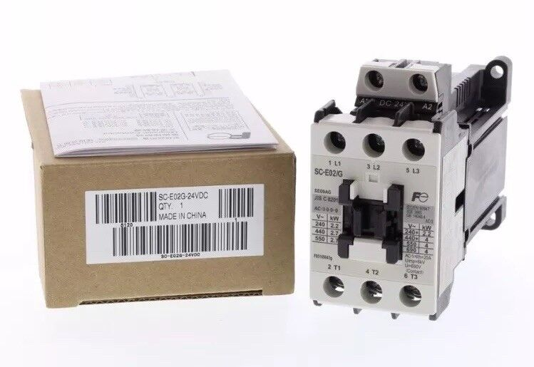 Fuji Electric SC-E02/G FA Motor Contactor  / 20A Pole Rating / 24V DC Coil