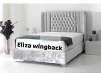 Brand new crushed velvet Eliza wingback bed