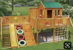 Wanted: carpenter to make above outdoor playground/playhouse