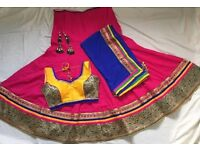 Indian garba navratri wedding Mahendi night, dandiyaras, chaniyacholi, outfit size S/M/L