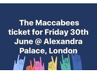 The Maccabees ticket