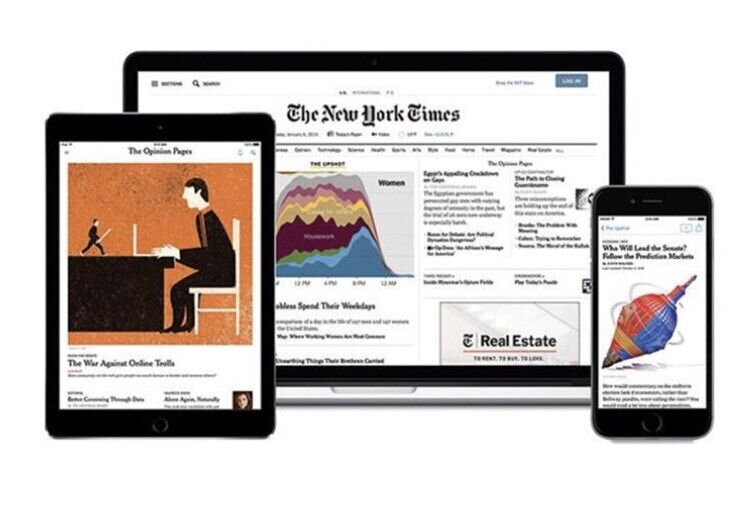 New York Times NYT Digital Access 12-month iOS/Android/PC- Anywhere
