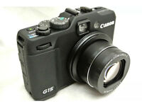 Canon Powershot G15 Compact Digital Camera + official case