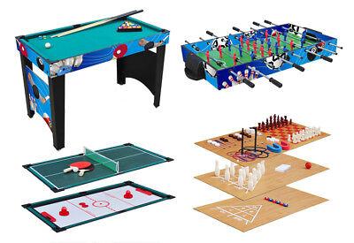 KMH® Kicker Tischfußball Multigame Spieltisch Spieletisch Billard Spielesammlung
