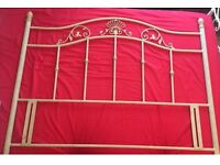 Double headboard bed
