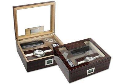THE Kensington Cigar Humidor Gift Set - by Prestige Import (Prestige Gift)