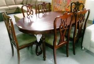 Rosewood 7 Piece Oval Dining Suite - Table and chairs Condell Park Bankstown Area Preview