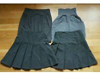 School uniform: grey skirts