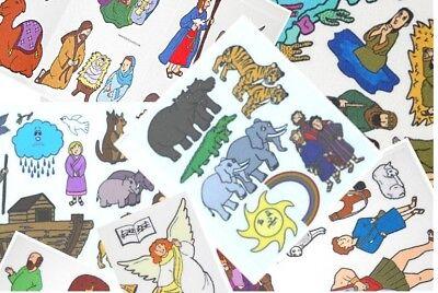 Lot of 4 BIBLE stories . Sunday School. Felt /Flannel Board Bundle FREE -