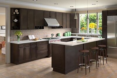 NEW Forevermark K-Series Expresso 10x10 RTA Kitchen Cabinets FREE SHIPPING