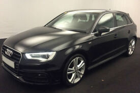 Black AUDI A3 SALOON 1.4 1.6 1.8 2.0 TDI Diesel SPORT FROM £57 PER WEEK!