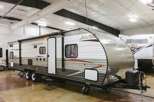 2014-New-29BH-Lite-Bunkhouse-Travel-Trailer-Camper-with-Quad-4-Bunks-Slide-Out