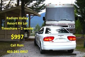 For Sale: 2 Week RV Lot Timeshare May/June in Radium BC Canada