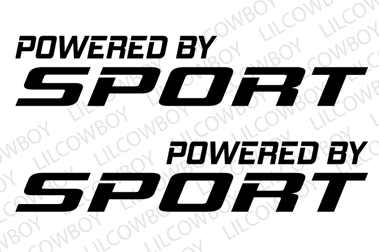 Decal Sticker Vinyl Turbo Supercharged emblem Racing PT15 Powered By Sport