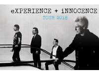 Pair of U2 Tickets, Friday 18th Oct, Manchester Arena, Seated in the Lower Tier close to the Stage